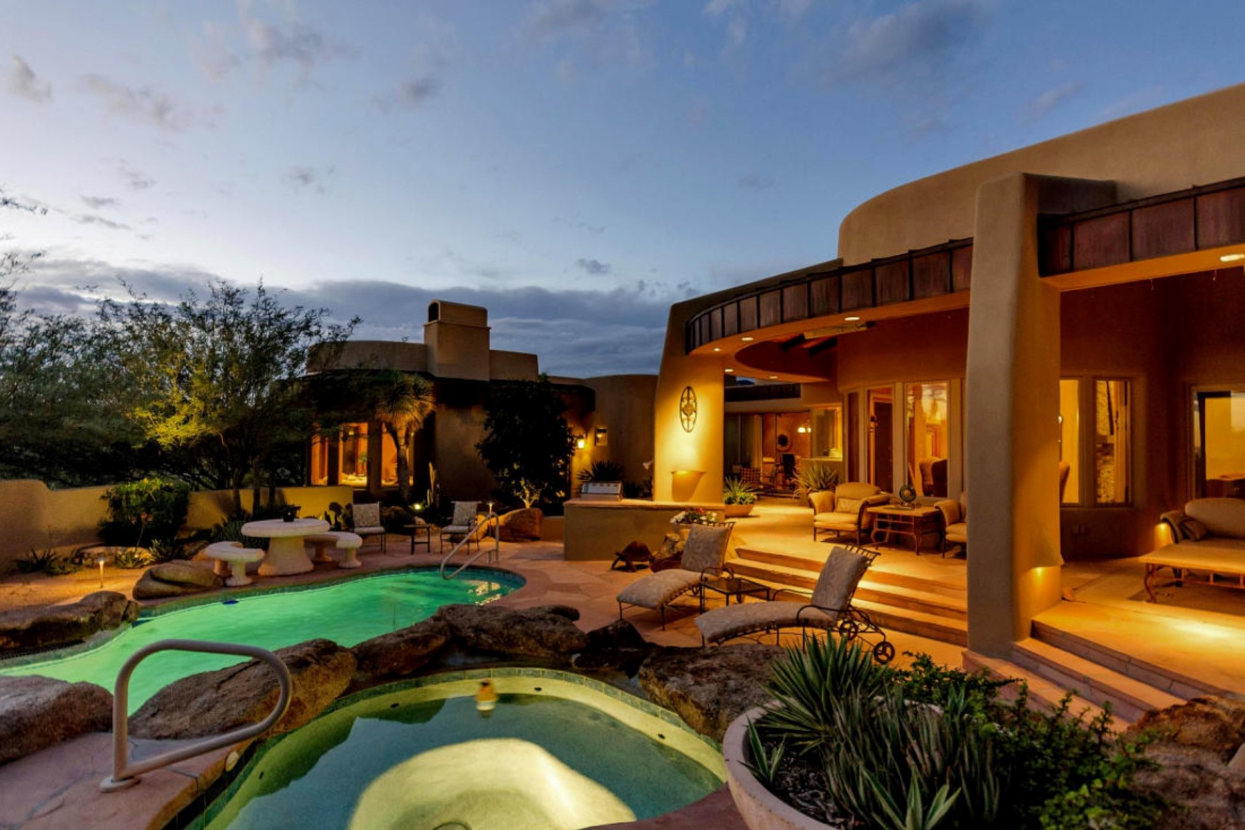 Single Family Home for Sale at Fabulous Desert Classic Style Home on Extremely Private Lot in Desert Mountain 10822 E Prospect Point Drive Scottsdale, Arizona 85262 United States